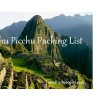 Inca Trail and Machu Picchu Tours Packing List
