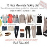 15 Piece Maximista Packing List Spring 2013