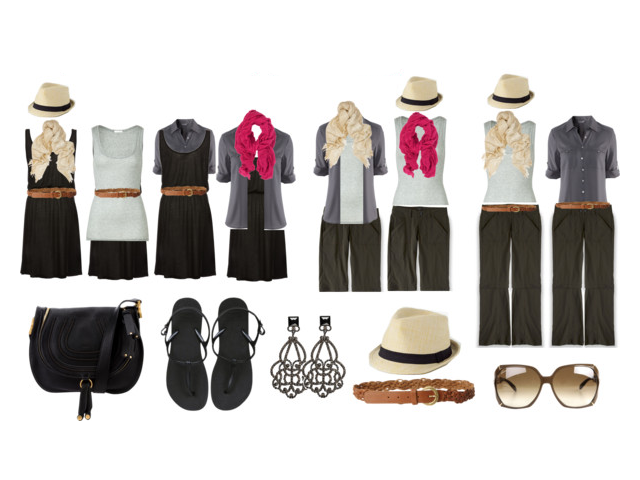 Minimalist Travel Packing – How to Mix and Match 4 Pieces of Clothes