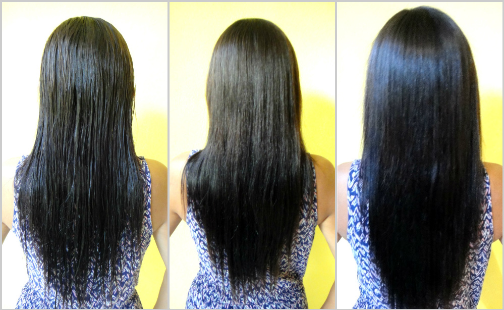 My 1st Hair Wash Post Hair Rebonding - Wet, Air Dry, Flat Iron