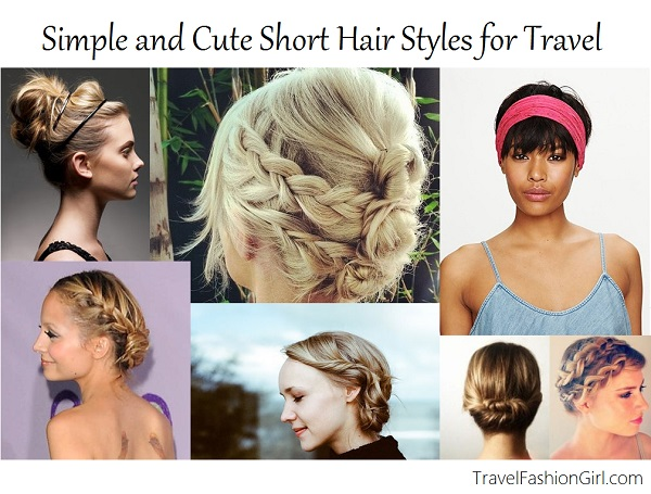 Cute Hairstyles For Short Hair Quick And Easy : Simple and Cute Short Hair Styles for Travel