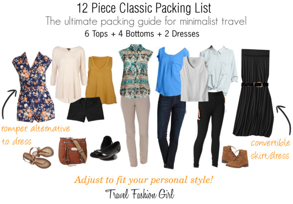 Classic Packing List Spring 2013 Travel Fashion Girl