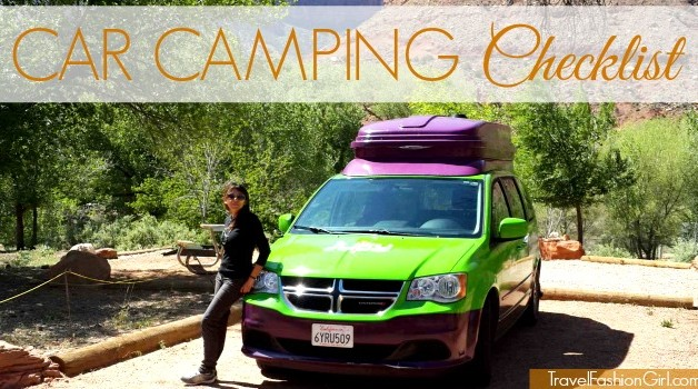 camping checklist week national parks utah