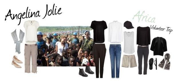 Pack Like Angelina: Celebrity Inspired Volunteer Travel Ensemble