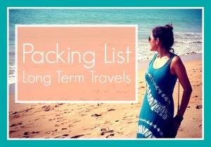 My Packing List for Long Term Travels