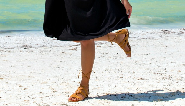 Lace Up Sandals: The Latest Vacation Shoe Trend
