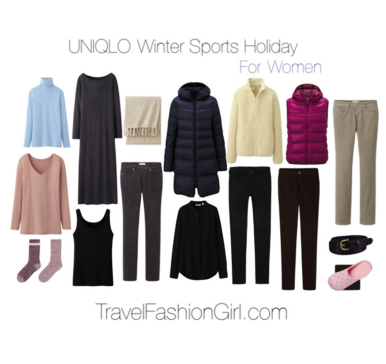 41b782bd4 Ultralight Warmth: UNIQLO Winter Sports Holiday Packing List