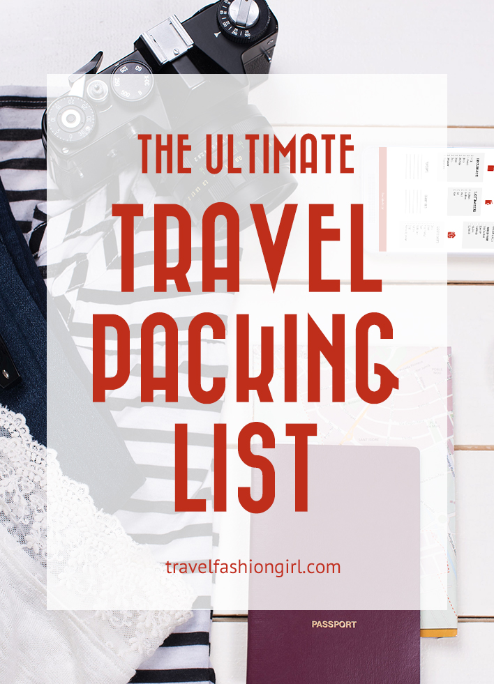 Packing List And Printable Travel Checklist